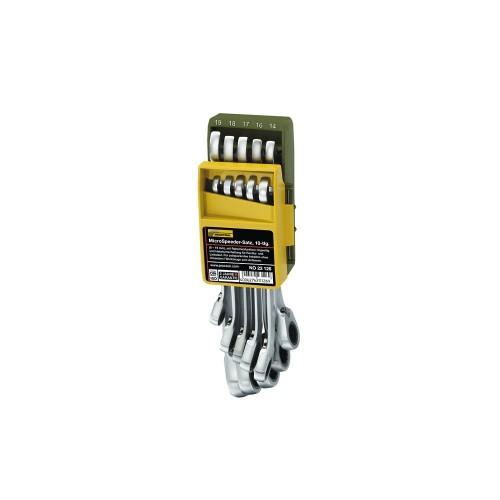 Proxxon 23126 - Set chei combinate cu clichet, , 8-19mm, 10 piese