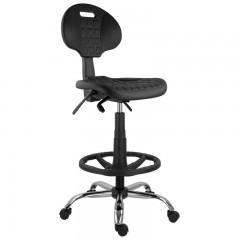 scaun profesional, scaun work,scaun baza cromata,scaun cu brate fixe,