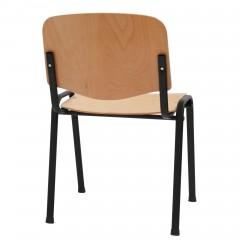 Scaun cu cadru otel vopsit si sezut/spatar lemn