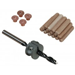 Set imbinare lemn cu dibluri Wolfcraft Ø6 mm, 31 piese