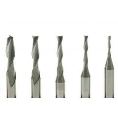 Freza doi dinti din carbura metalica pt modelism 0.4-3.175mm