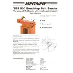 Slefuitor cu banda TBS 500 Hegner