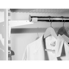 Suport simplu bara umerase Dolle Clothes Rails 330mm, alb, pentru rafturi modulare