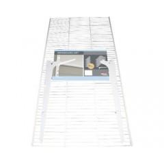 Set polita plasa metalica Dolle Gridboards 800x406x10 mm, alba, pentru rafturi modulare