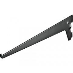 Suport simplu raft pe sina Dolle Single Slot 300mm, argintiu, pentru rafturi modulare