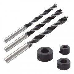 Set 3 burghie pentru dibluri, Wolfcraft