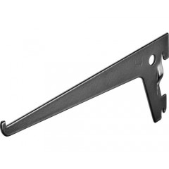 Suport simplu raft pe sina Dolle Single Slot 200mm, alb, pentru rafturi modulare
