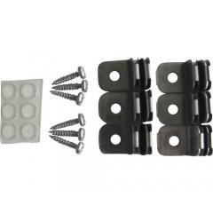 Set accesorii Dolle Monofix de fixat polite de sticla/lemn, prindere pe suporti