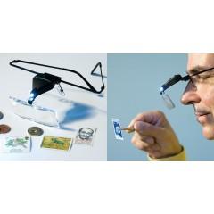 Lupa-ochelari cu LED de iluminare, modelism/hobby