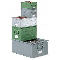 Cutie depozitare metalica, cu manere, vopsita/zincata 450x300x300 mm
