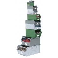 Cutie depozitare metalica, cu manere, vopsita/zincata 350x200x200 mm