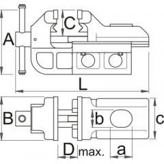 721Q/6 Menghina de banc cu sistem mobil rapid Unior 125 mm