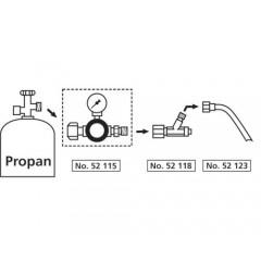 """Regulator presiune butelie gaz 1-4 bari filet 3/8"""", cu manometru, pentru propan & butan"""
