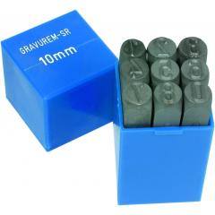 Set poansoane, CIFRE 0-9 de 1-16 mm, pt modelism/hobby