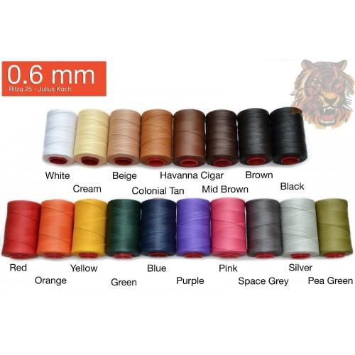Ata de cusut piele RITZA 25 -Tiger Thread - 50m - 0.6 mm grosime