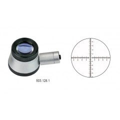 Lupa de precizie cu scala gradata si LED, 30 x ø 37 mm