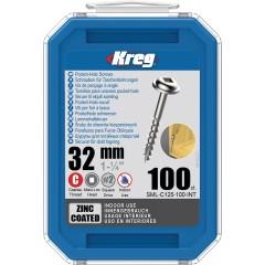 Suruburi cu gaura de buzunar 32 mm, zincate, Maxi-Loc™, 100 buc , KREG®