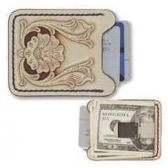 Kit clip pentru bani si husa pentru card Tandy Leather