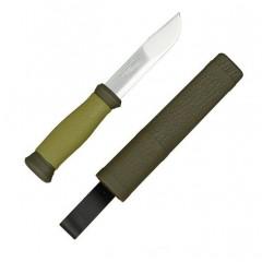 Cutit bushcraft/camping/supravietuire Morakniv 2000, verde.