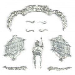 Navomodel HMS Fly- Set decoratii din metal turnat