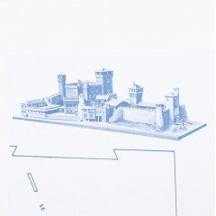 1291 Plan castel medieval, Amati
