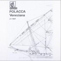 1007 Planuri constructie navomodel Amati Polacca Venetiana