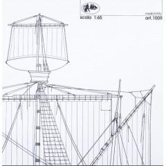 1009 Planuri constructie navomodel Amati Santa Maria, 1492