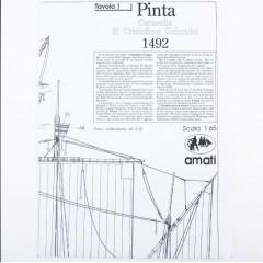 1010 Planuri constructie navomodel Amati Pinta, 1492