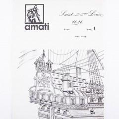1014 Planuri constructie navomodel Amati Saint Louis *