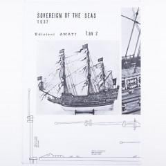 1015 Planuri constructie navomodel Amati Sovereign of the Seas