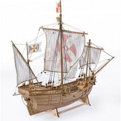 1410 PINTA -Caravela lui Columb 1492, Navomodel Amati, Scara 1:65 Lungime 45cm