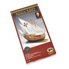 1411 NINA -Caravela lui Columb 1492, Navomodel Amati, Scara 1:65 Lungime 37cm