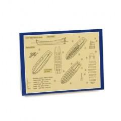 4302/07 Kit de barca salvare din lemn si metal, 70mm, Amati