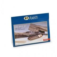 4302/09 Kit de barca salvare din lemn si metal, 90mm, Amati