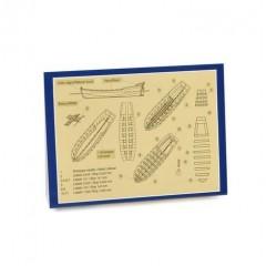 4302/10 Kit de barca salvare din lemn si metal, 105mm, Amati