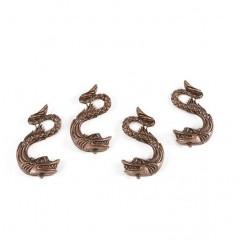 5687 Set 4 delfini din metal aurit pt sustinere navomodele, Amati