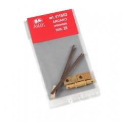 4115/02 Vinci de tip vechi din lemn pt navomodele, 16mm, Amati