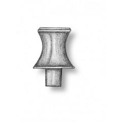 4866/02 Set 2 cabestane verticale din alama, 6.5mm, Amati