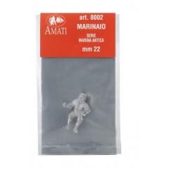 8002 Figurina metalica marinar, pt navomodele, 22mm, Amati