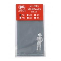 8005/01 Figurina metalica ofiter, pt navomodele, 25mm, Amati