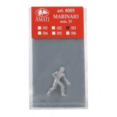 8005/03 Figurina metalica marinar, pt navomodele, 25mm, Amati