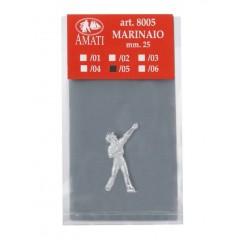 8005/05 Figurina metalica marinar, pt navomodele, 25mm, Amati