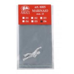 8005/06 Figurina metalica marinar, pt navomodele, 25mm, Amati
