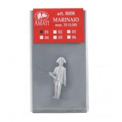8008/01 Figurina metalica ofiter, pt navomodele, 35mm, Amati