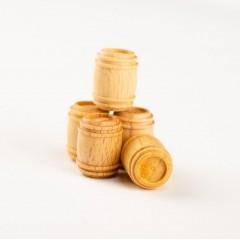 4120/22 Set 5 Butoaie din lemn pentru navomodele. Amati