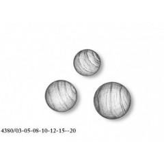 4380/04 Set 30 bile din lemn cu gaura pentru navomodelism, Amati