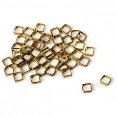4004/35 Set 10 inele patrate din alama pt navomodele, 3.5x3.5mm, Amati