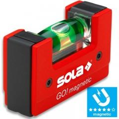 Nivela magnetica compacta GO! magnetic 6.8cm SOLA