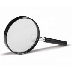 Lupa clasica cu lentila rotunda 90 mm, marire 2x si 4x