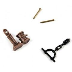 4355/04 Set 2 pompe simple din metal pentru navomodele, 11mm, Amati